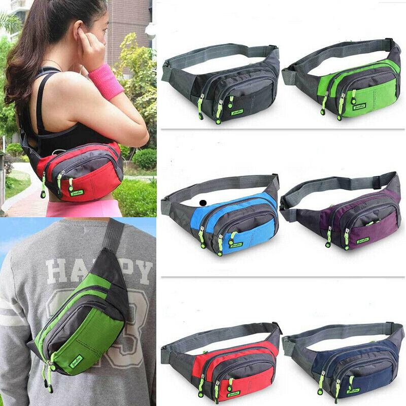 Waterproof Running Belt Bum Waist Pouch Sport Camping Hiking Zip Fanny Pack Bag