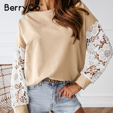 BerryGo Casual round neck women blouse shirt