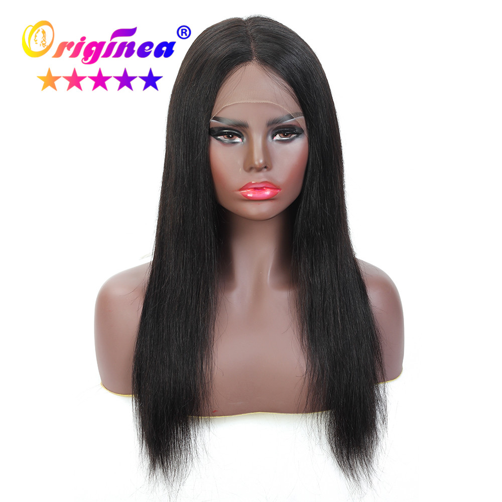 T Part Lace Front Human Hair Wigs For Woman Ear To Ear Lace Wig With Baby Hair Brazilian Remy Straight Hair Wigs Pre-Plucked