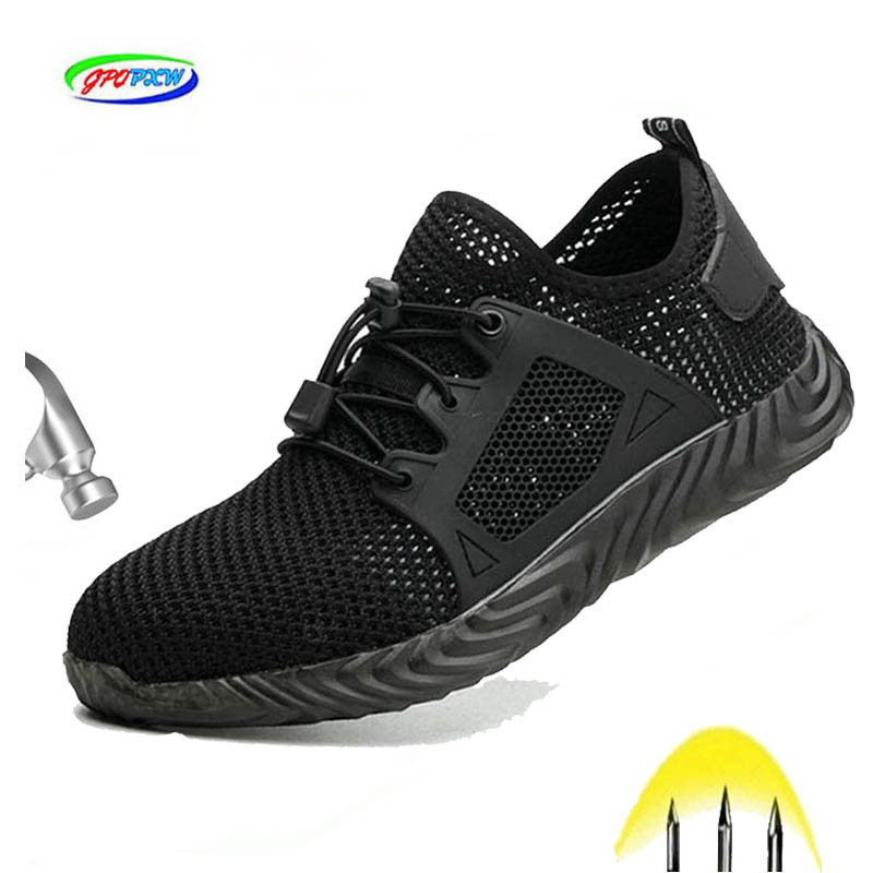 Dropshipping Indestructible Ryder Shoes Man And Woman Steel Toe Safety Boots Air Puncture-proof Breathable Work Sneakers Shoes
