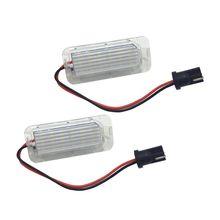 License-Plate-Lamp Focus Car-Led-Number 6000K White 2pcs for 5D Fiesta/Mondeo/Mk4/..
