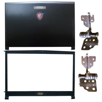Nowy dla MSI GS73 GS73VR MS-17B1 MS-17B3 LCD do laptopa pokrywa tylna pokrywa przednia zawiasy 3077B5A213 3077B1A222 tanie i dobre opinie jooeynn Pokrowce na laptopa CN (pochodzenie) Pokrywa wymienna do laptopa Unisex For MSI GS73 GS73VR MS-17B1 MS-17B3 Bez suwaka
