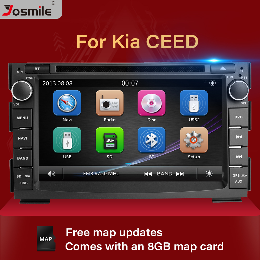 2 din rádio do carro dvd player multimídia para kia ceed 2010 2011 2012 venga gps glonass unidade de cabeça áudio estéreo vídeo