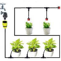 Micro Drip Plant Watering Kit DIY Garden Irrigation Mist Cooling System with Adjustable Nozzles and Water Timer Package