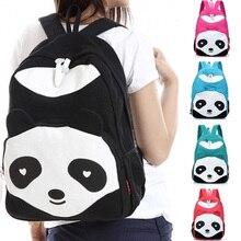 Personality Girls Fashion Backpack Canvas Panda Cartoon Cute Travel Bag #197363