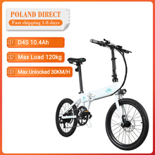 Bicycle Moped Fat-Ebike Electric-Bike Folding FIIDO 80KM 250W 20-Inches Mileage Top-Speed