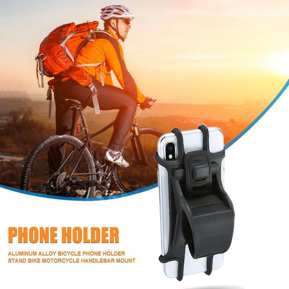 Silicone Adjustable Bike Phone Holder Pull Button Anti-shock Mobile Phone Holder Mount For Motorcycle GPS Bike Stand
