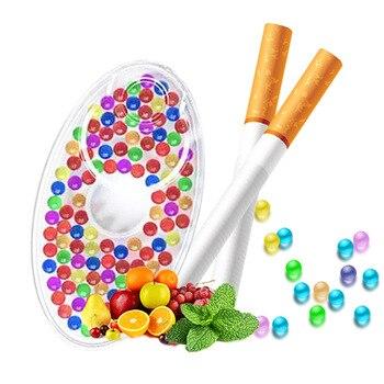 Cuentas de tabaco Pops para hombres, cápsulas de sabores de frutas mezcladas para cigarrillos, soporte para cigarrillos, cuentas de hielo, regalos, accesorios para fumar, 100 Uds.