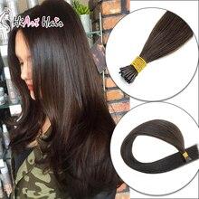"""Hiart 0,8 г/шт., накладные волосы на кончиках, человеческие волосы remy для салона, накладные волосы, двойные прямые волосы для наращивания, 1"""" 20"""" 22"""""""
