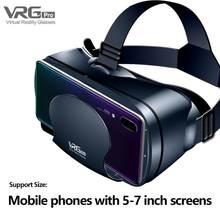 1pc mais novo para vrg pro 3d vr óculos de realidade virtual tela cheia visual óculos de grande angular vr para 5 a 7 Polegada dispositivos de smartphones