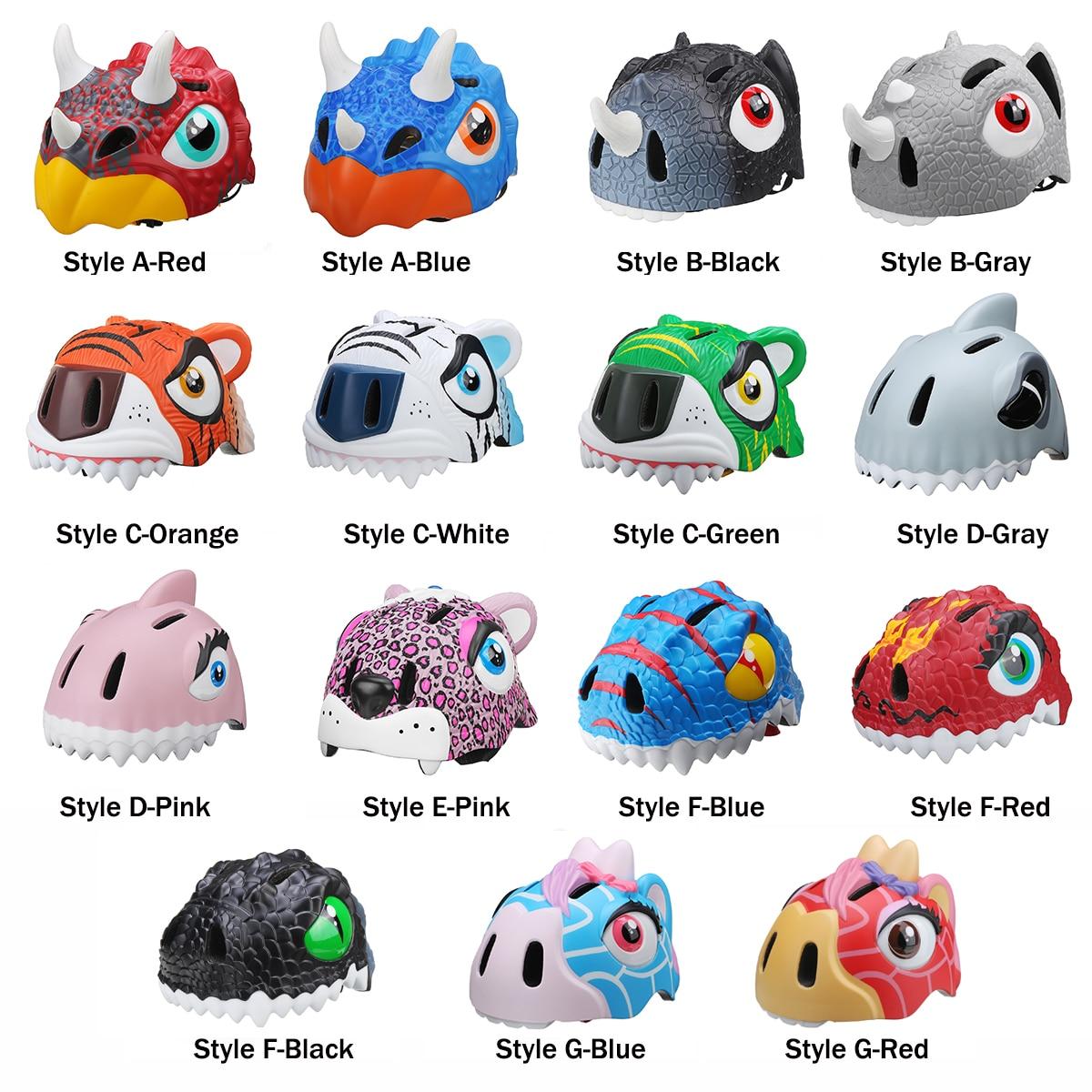 49-55cm Kid Light Helmet Skateboard Helmet Child Safety Animal Helmet Bicycle Helmet Cycling Caps Bicycle защитный детский шлем