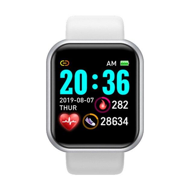 Smart Watch D20 Men Women Waterproof Fitness Tracker Heart Rate Monitor Sports Y68 Smartwatch Wholesale Bracelet for IOS Android