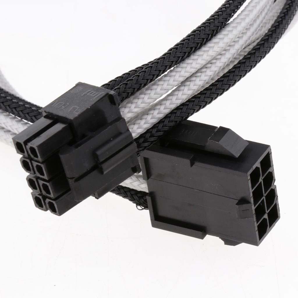 8-Pin PSU Power Supply Splitter Cable, 30cm 8-Pin Male to Female ATX M/F CPU Extension Cable 8 Pin Adapter Cord