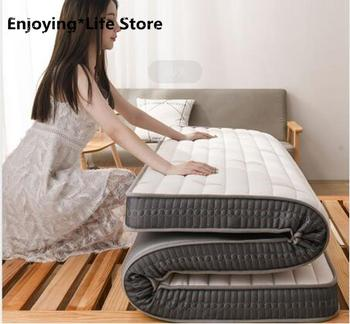 Thickness 6cm Latex Mattress Folding Mattress Memory Cotton For Queen/King /Twin/Full Size Bed Breathe Foam Tatami Mattress 10 two layers traditional firm high softness cotton mattress with 2 pillows twin size white