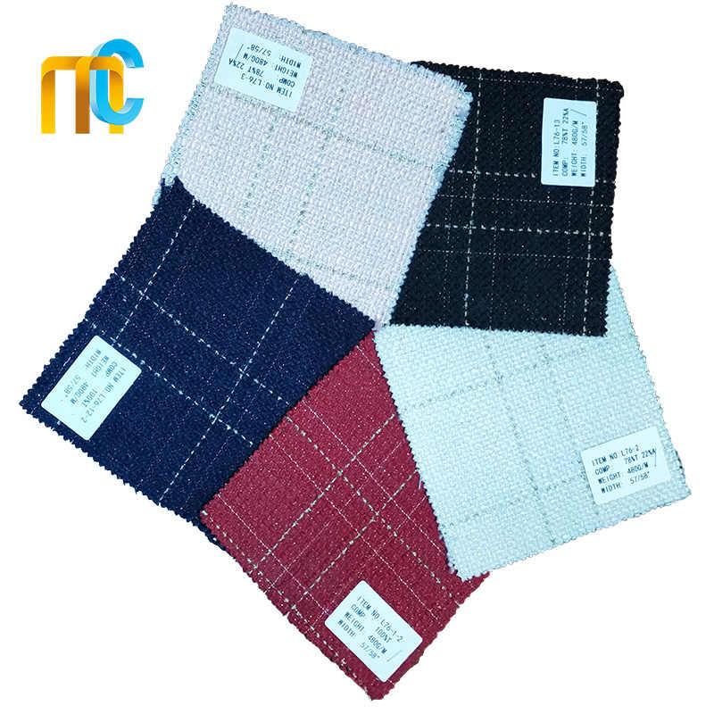 Wełniana tkana tweedowa tkanina w kratę DIY do spódnicy/odzieży wierzchniej/sukienki/torby w jesienno-zimowej tweedowej tkanina w kratę L76