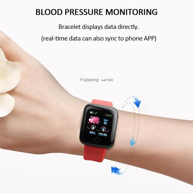 116 Plus Smart Watch Wristband Sports Fitness Blood Pressure Heart Rate Call Message Reminder Android Pedometer Smart Watch 5