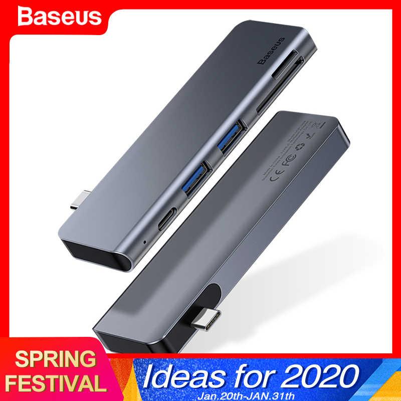 Moyeu de USB c Baseus type-c à Ports multiples USB 3.0 USB3.0 Type C adaptateur secteur USB-C répartiteur de moyeu Dock pour Macbook Pro Air USBC HAB