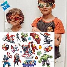 Hasbro Hulk Spiderman Avengers Marvel Children Cartoon Temporary Tattoo Sticker For Boys Toys Waterproof Party Kids Gift