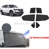 6 pçs high-end personalizado para skoda kodiaq tipo de cartão magnético cortina de carro sombra de sol janela do carro estilo do carro