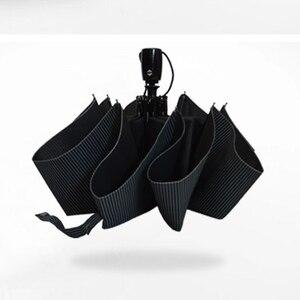 Image 2 - Automatische Opvouwbare Paraplu Mannen Regen Kwaliteit Winddicht Uv Grote Paraguas Mannelijke Streep Parapluie 4 Kleuren Raden