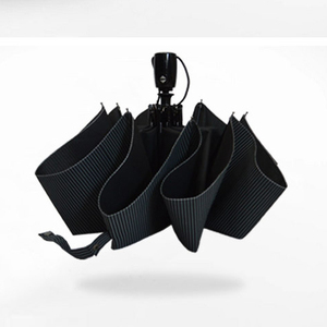Image 2 - אוטומטי מתקפל מטריית גברים גשם איכות windproof uv גדול paraguas זכר פס parapluie 4 צבעים ממליץ