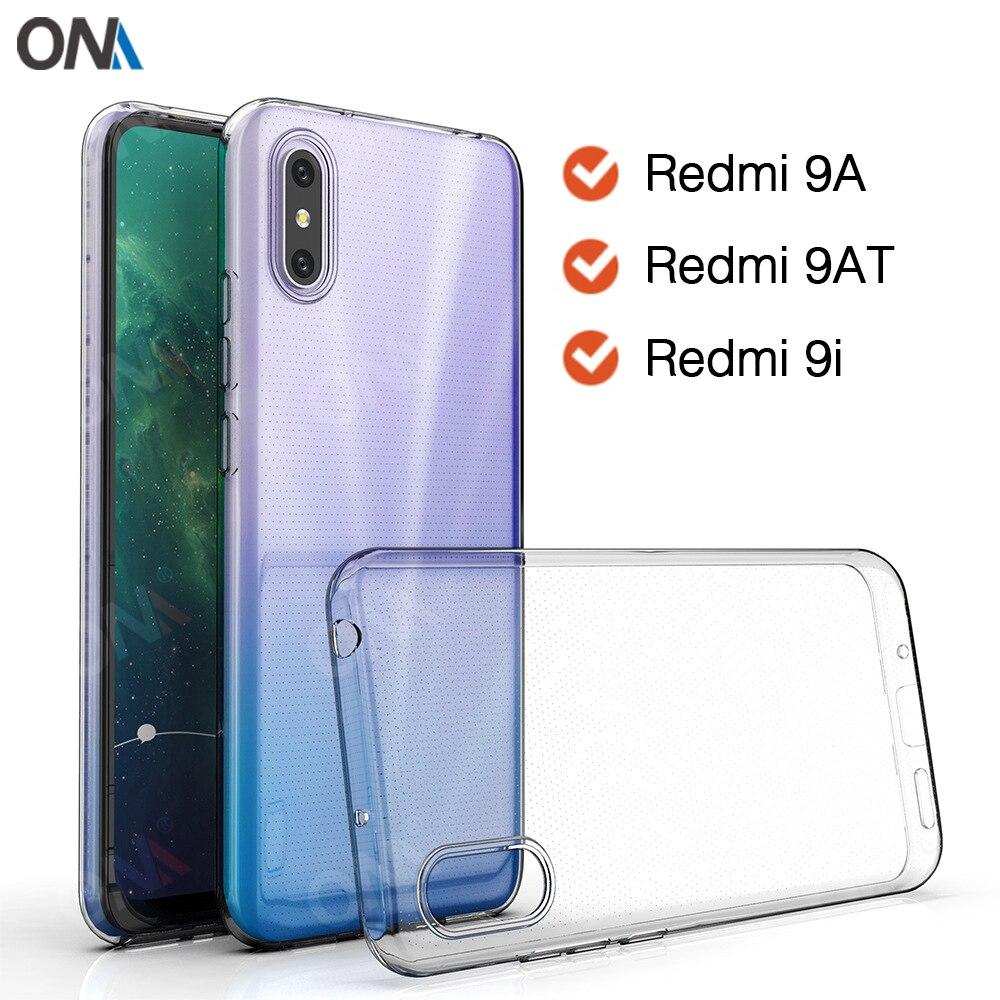 Fall Für Xiaomi Redmi 9A / 9AT / 9i indien TPU Silicon Klar Ausgestattet Auto Weichen Fall Redmi 9 Prime transparent Zurück Abdeckung