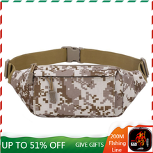 Fashion Canvas Waist Bag Men Women Fanny Pack Casual Sports Outdoor Shoulder Solid Camouflage Chest Bag Fishing Bags