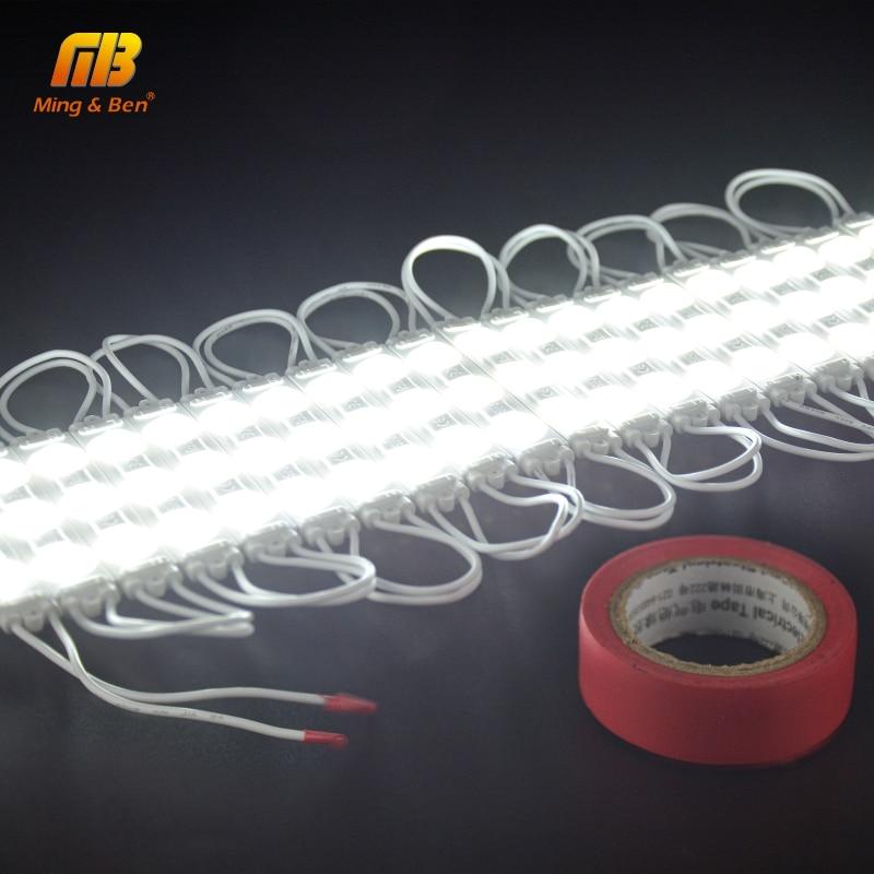 LED Module Light 220V 3LED Injection LED Module White 5PCS 10PCS 15PCS 20PCS/lot Super Bright Professional Wall Kitchen Light 6