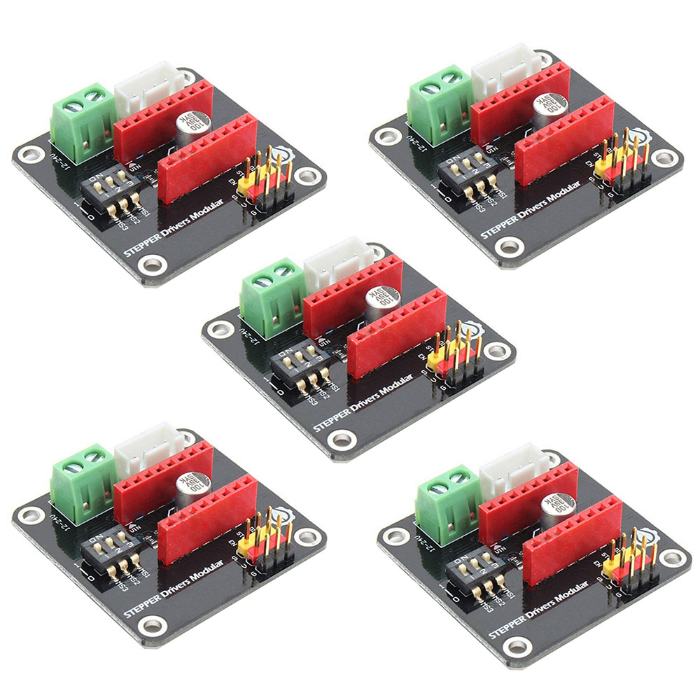 5PCS DRV8825 A4988 3D Printer 42 Stepper Motor Driver Controller Expansion Module For Arduino UNO R3 Ramps1.4 DC Motor Drivers