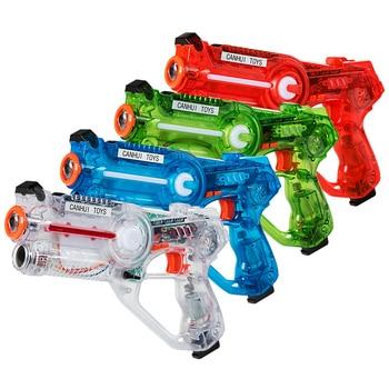 4-Set Infrared Laser Tag Guns Game Shot Play 4 Players Game Child& Adult
