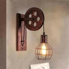 Led Wall Lights Vintage Patio wall Light corridor Loft Nordic Iron retro  Lamps Villa Aisle Decorative E27 sconce