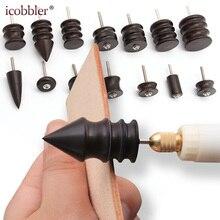 DIY herramientas de molienda de cuero Mini taladro portátil versátil máquina de pulido Kit de herramientas de sándalo púrpura traje de cabeza de molienda