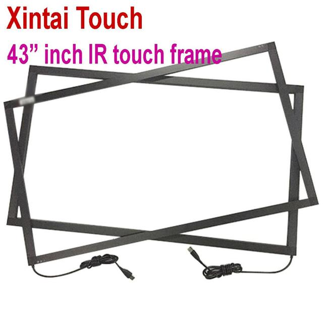 Hot selling! NEW type 43 inch Infrared IR touch screen IR touch frame overlay 10 touch points Plug and Play works