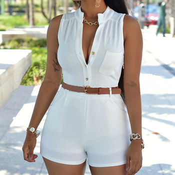 цена на short round neck blouse suit for ladies sport two-piece suit high-waisted women's five-cent trousers