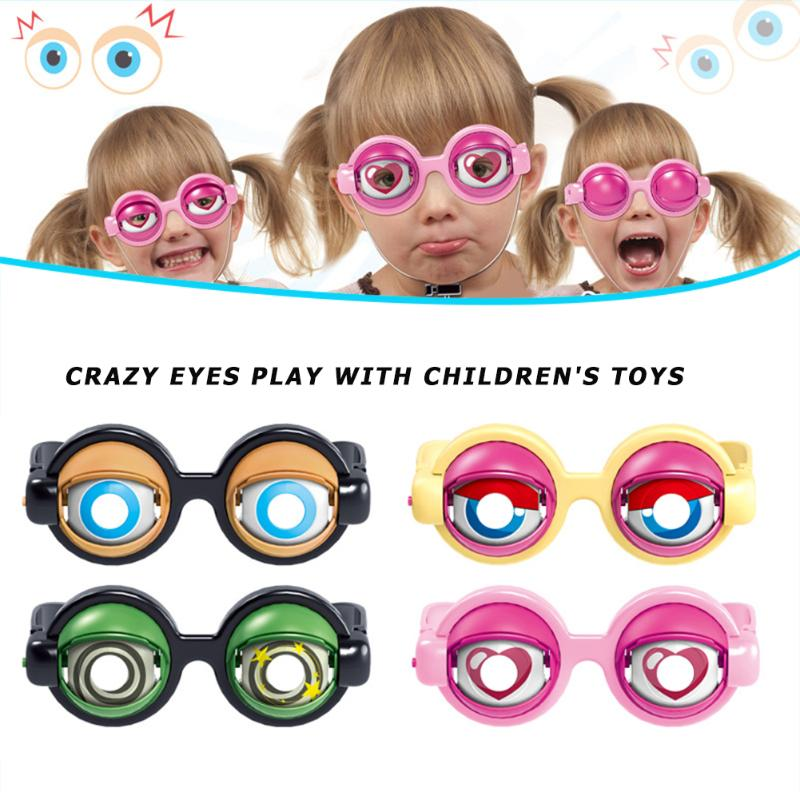 1pc Crazy Eyes Children Party Party Favor Funny Pranks Glasses Creative Novelty Gag Glasses Toys As Gift For Boys And Girls