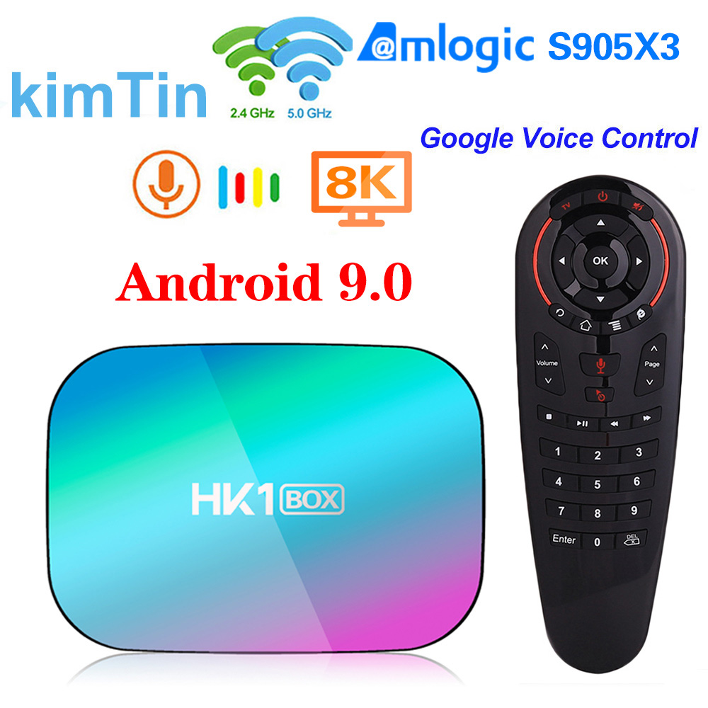 Android 9 TV Box 4GB 128GB 8K Amlogic S905X3 1000M Media Player 5G Wifi 4K 60fps Google Player Netflix Youtube Set Top Box New