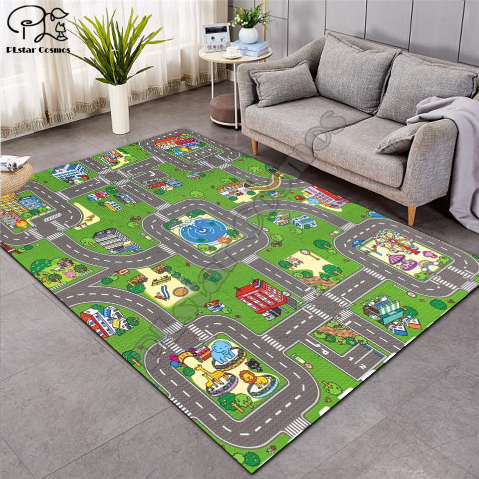 Fantasy fairy Cartoon Kids Play Mat Board Game Large Carpet for Living Room Cartoon Planet Rugs Maze princess castle style-4 image