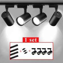 Led Track Light Spotlights 220v Cob Track Wall Lamp 12W 20W 30W 40W Aluminum Track Rail Lighting Fixture For Kitchen Home Shop