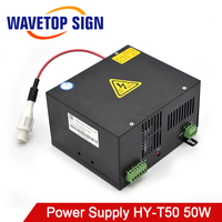 WaveTopSign 50W CO2 Laser Power Supply HY T50 Match with 50W Laser Tube use for Laser Cutter and Laser Engraving Machine