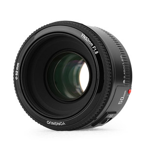 Image 2 - YONGNUO YN50MM F1.8 카메라 렌즈 Nikon D800 D5100 D5200 D5300 용 대형 조리개 AF MF DSLR 카메라 렌즈 Sony ZV 1 RX100 VII 용