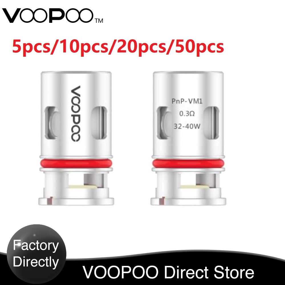 In Stock 5-50pcs !VOOPOO PnP-VM1 Mesh Coil For VINCI Kit With The  PnP-VM1 0.3ohm Mesh Coil For Your Pod E-Cigerette  Vape Coil