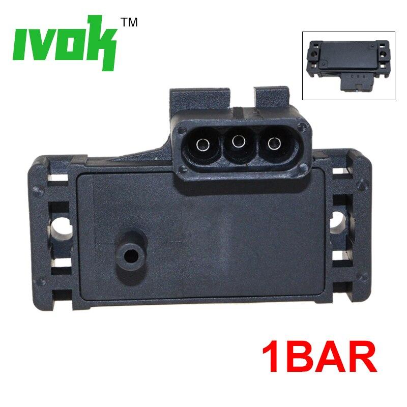 1BAR Intake Air Manifold Pressure MAP Sensor For Mitsubishi Smart Fortwo W//Plug