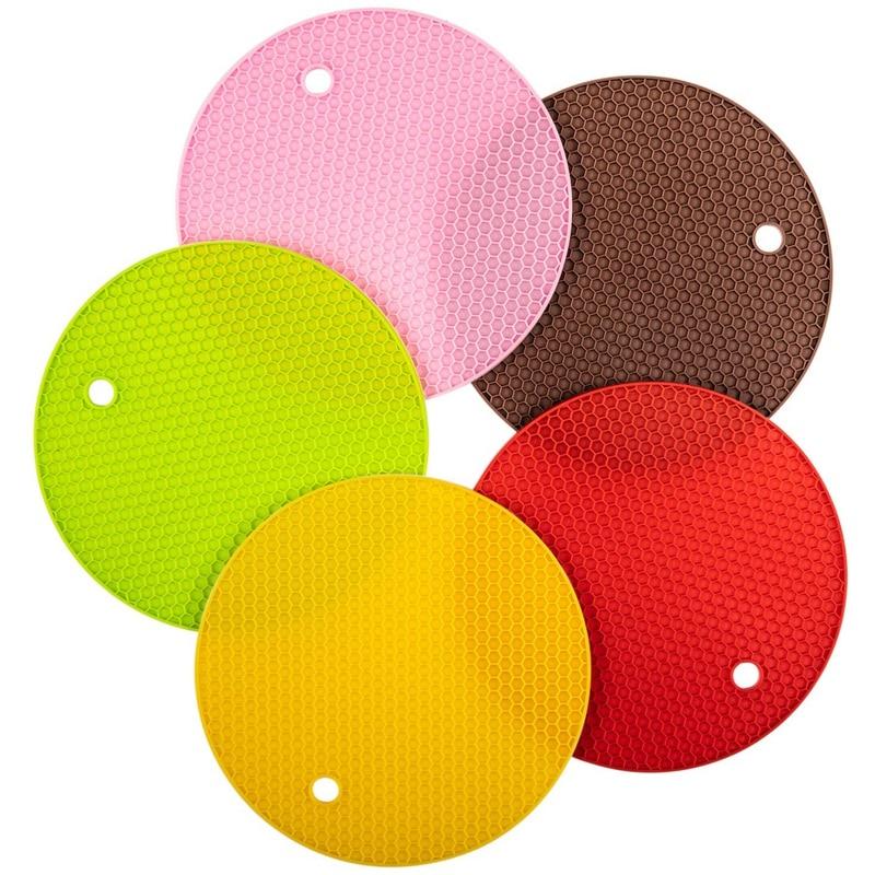 Green Jar Opener Transer Silicone Trivet Mat and Spoon Rest Multipurpose Kitchen Gadgets:Pot Holder Hot Pads and Table Coaster Heat Resistant /& Dishwasher Safe