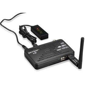 Image 2 - SKYSAT V9 CCCams שרת hd Newcamd DVB S2 לווין מקלט SKYSAT V9 תמיכת WiFi 3G Youtube PVR PowerVu ביס קולט אירופה