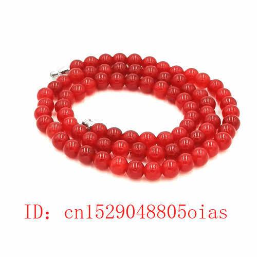 Alami Asli Merah Manik-manik Kalung Bahasa Swedia Jag Perhiasan Pesona Fashion Aksesoris Beruntung Amulet Hadiah untuk Wanita Dia Pria