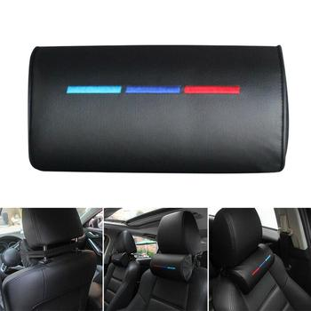 1PC Car Neck Pillow Leather Auto Car Neck Rest Headrest Cushion Pillow Car Interior Accessories Universal Lumbar Back Support