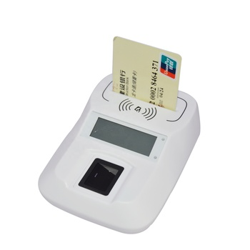 Identification Contact + Contactless + PSAM + LCD Smart NFC Fingerprint Card Reader for Bank HD8-FI ccid usb contact ic chip nfc rfid smart contactless card reader with psam hd5