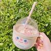 Creative water cup with starw  portable plastic mug cute drinkware breakfast milk coffee juice kawaii bottle for girls HT62# 3