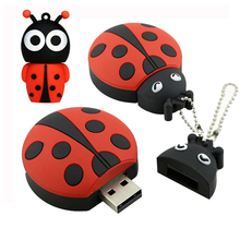 USB Flash Drive 8G Cute Animal Ladybug USB Pen Drive 32G Pendrive 16GB USB Memoria Stick