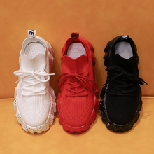 Wave Bottom Sports Shoes Women 2020 Summer New Wild Net Red Socks Shoes One Pedal Casual Thick Bottom Old Shoes Mesh (Air Mesh)